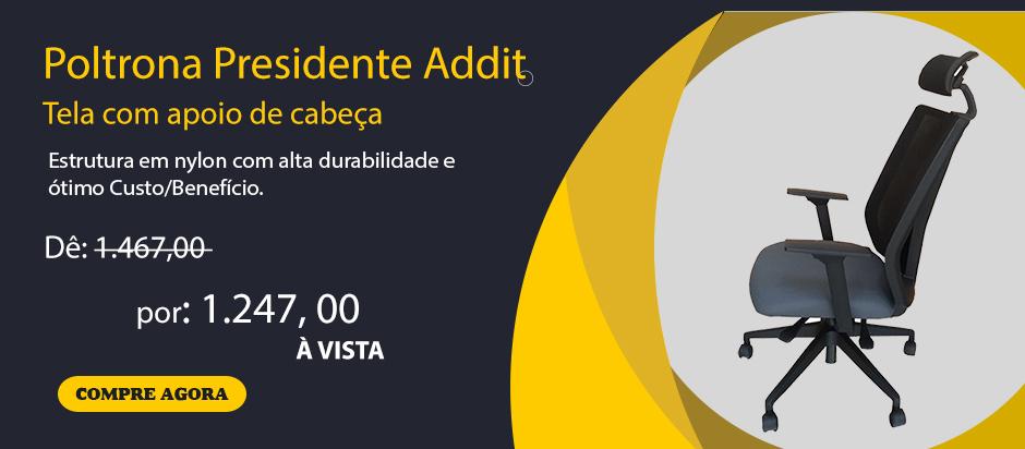 Promocão Poltrona Presidente Tela Aditt