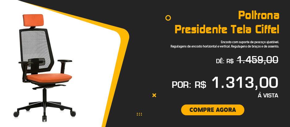 Promocão Poltrona Presidente Tela Ciffel